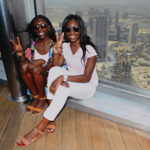 At the top of the Burj Khalifa, United Arab Emirates