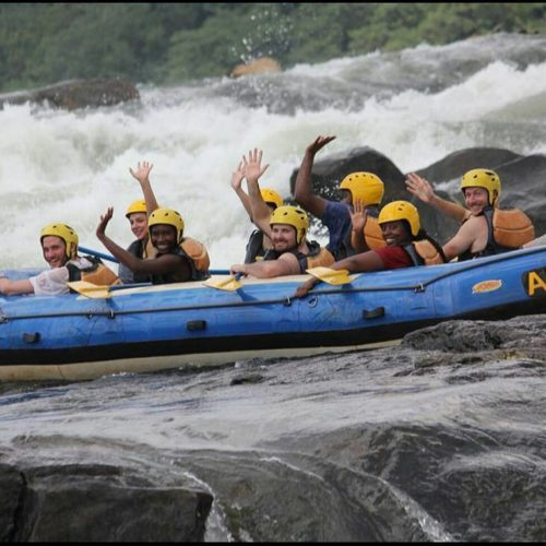 Whitewater rafting down the Nile, Uganda