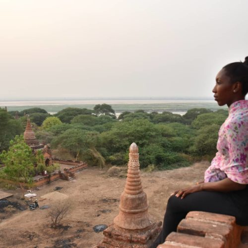 Watching the sunset in Bagan, Myanmar